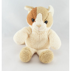 Doudou chat blanc marron beige ANNA CLUB PLUSH