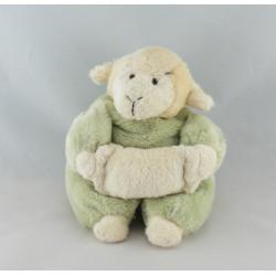 Doudou mouton agneau vert bleu mauve CMP