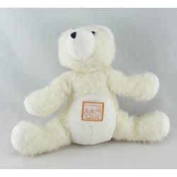 Doudou mini ours blanc la grande famille MOULIN ROTY
