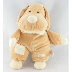 Doudou chien écru beige TIAMO COLLECTION 15 CM