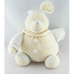 Doudou plat ours beige bleu GD