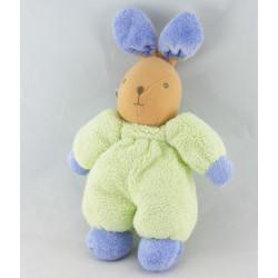 Doudou lapin blanc vert AJENA