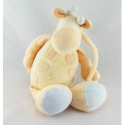 Doudou musical girafe orange jaune bleu JOLLYBABY
