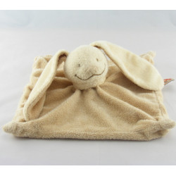 Doudou plat Lapin Beige foulard écru NICOTOY