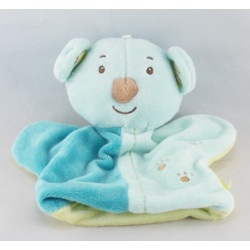 Doudou plat ours koala bleu Zen SYSTEME U