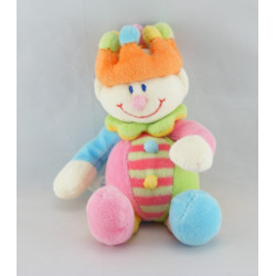Doudou Clown multicolore couronne baguette JOLLYBABY