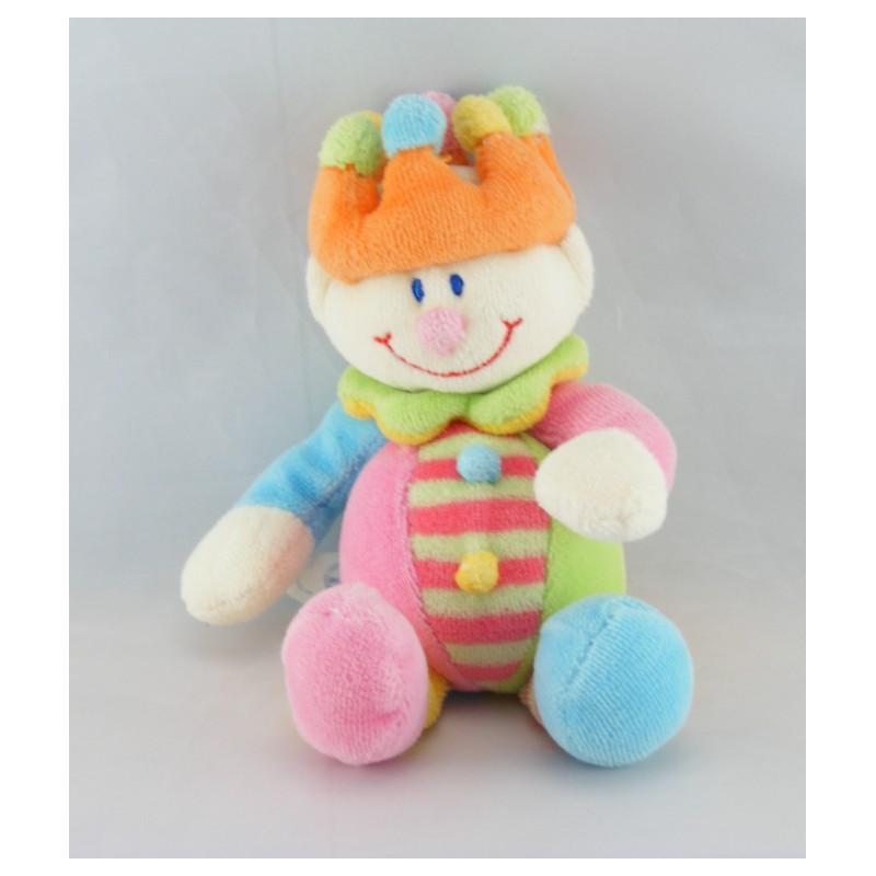 Doudou Clown multicolore couronne baguette JOLLYBABY
