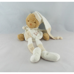 Doudou et compagnie bio ours blanc avec mouchoir