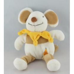 Doudou et compagnie souris Nature rayé beige marron