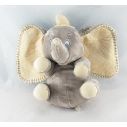 Doudou plat éléphant gris Dumbo mouchoir couverture NICOTOY