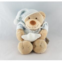 Petit Doudou ours bleu ciel étoile NATTOU