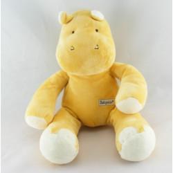 Doudou musical hippopotame jaune BABYSUN