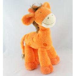 Doudou Girafe orange jaune bleu NICOTOY