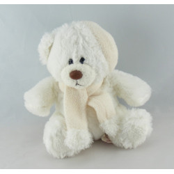 Doudou ours beige pull blanc STAR ACADEMY 2003 COBICO