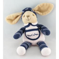 Doudou lapin bleu marine vichy carreaux BABY NAT