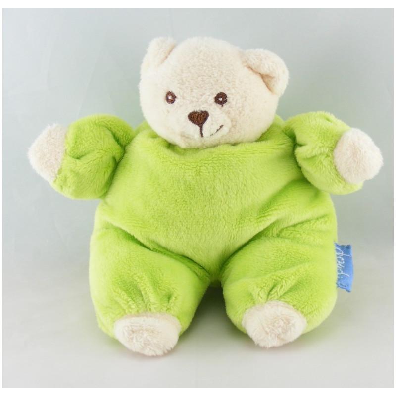 Doudou ours blanc vert DOUDI