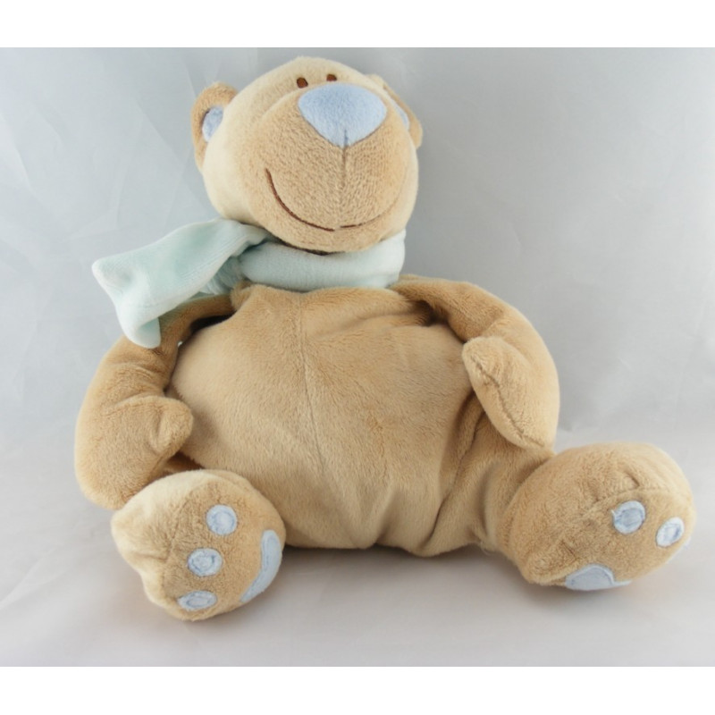 Doudou musical ours beige écharpe rose JOLLYBABY