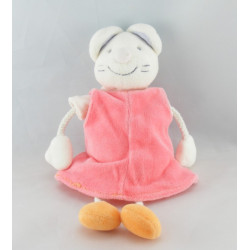 Doudou plat souris orange JOLLYBABY