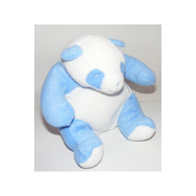Doudou Panda Klorane bleu et blanc