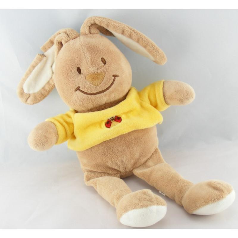 Doudou lapin maillot jaune coccinelle BENGY