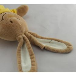 Doudou lapin beige maillot jaune coccinelle BENGY
