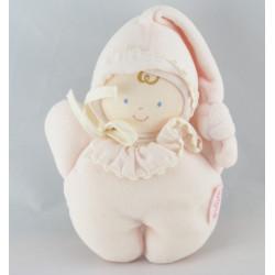 Doudou anneau hochet lutin bébé rose BABI COROLLE