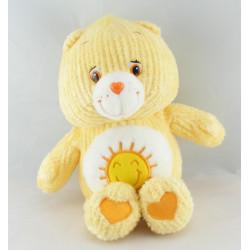 Peluche Bisounours jaune soleil  Grosjojo CARE BEARS 28 cm