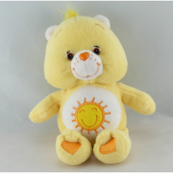 Peluche Bisounours jaune soleil  Grosjojo 2002 CARE BEARS 22 cm