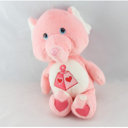 Peluche Bisounours rose éléphant Toucostaud CARE BEARS 34 cm