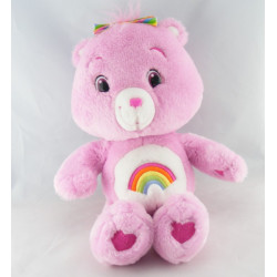 Peluche Bisounours rose Grosfarceur CARE BEARS 36 cm