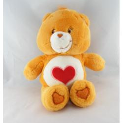 Peluche Bisounours orange coeur Grosbisous CARE BEARS 29 cm