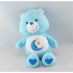 Peluche Bisounours bleu Grosdodo lune étoile CARE BEARS 22 cm