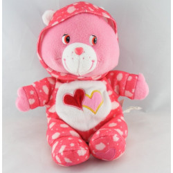 Peluche Bisounours rose avec coeur CARE BEARS