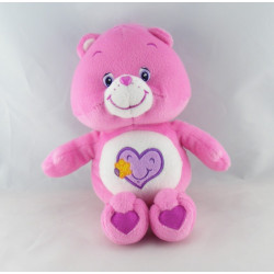 Peluche Bisounours rose avec coeur CARE BEARS