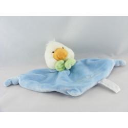 Doudou canard poussin blanc bleu vert CHARLY ET CIE