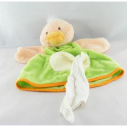 Doudou marionnette vache orange mouchoir NOUNOURS