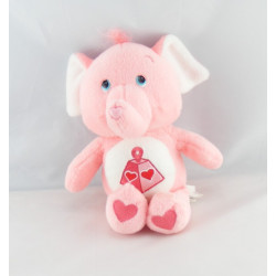 Peluche Bisounours rose éléphant Toucostaud CARE BEARS 23 cm