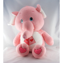 Grande Peluche Bisounours rose éléphant Toucostaud CARE BEARS 65 cm