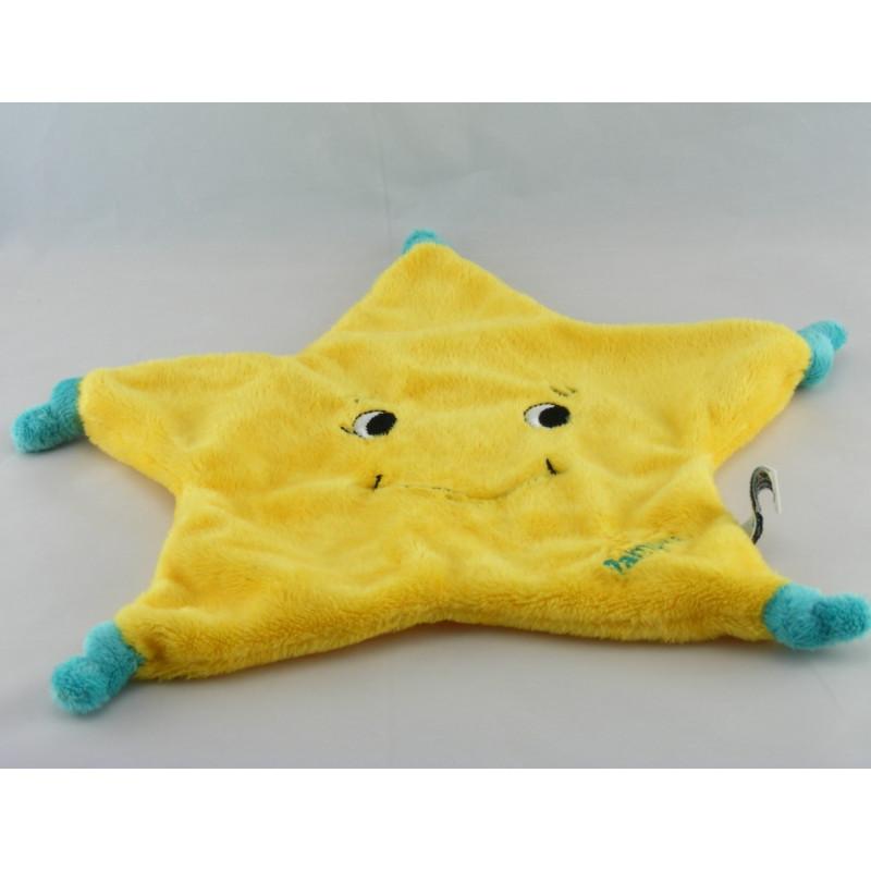Doudou plat étoile jaune PAMPERS