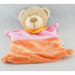 Doudou ours rose orange Nicotoy