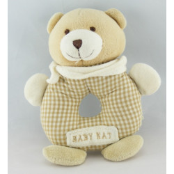 Doudou ours vichy beige BABY NAT
