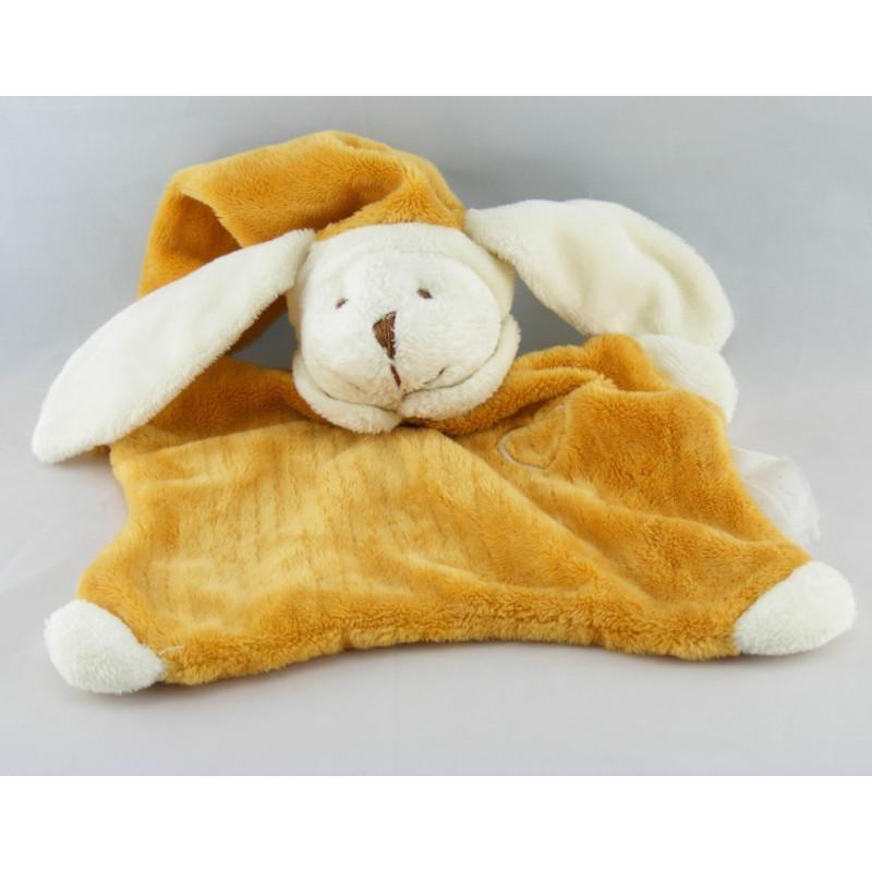 Doudou lapin beige blanc Natoudou EVEIL ET TENDRESSE
