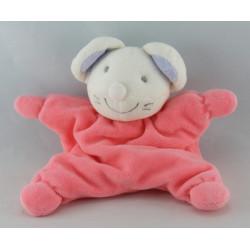 Doudou souris blanche robe rose JOLLYBABY