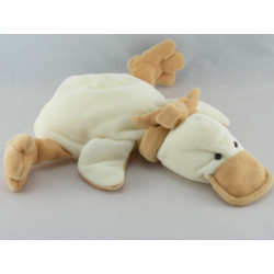 Doudou canard blanc beige TIAMO COLLECTION