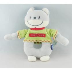 Doudou range pyjama chat gris blanc pull vert rouge SUCRE D'ORGE