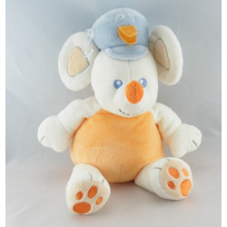 Doudou souris jaune orange bleu HAPPY MOUSE KIMBALOO