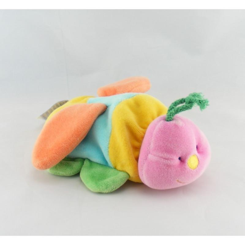 Doudou Papillon hochet multicolore COMPTINE
