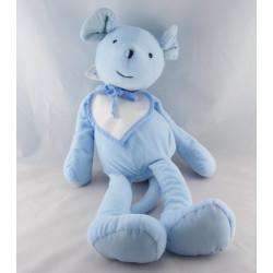 Doudou lapin bleu bavoir Jules DMC