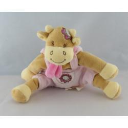 Doudou vache salopette rose Lola BENGY
