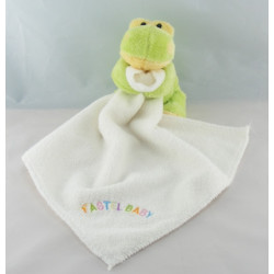 Doudou plat grenouille bleu vert CP INTERNATIONAL